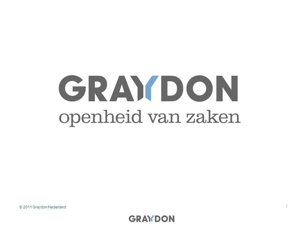 Marktbehoefte 2 Het kunnen beoordelen op kredietwaardigheid van uw debiteuren en op de hoogte zijn van wijzigingen in uw debiteurenportefeuille op een geautomatiseerde wijze zodat u dit nagenoeg geen tijd kost Oplossing: De Graydon Integration Tool in samenwerking met Orbis © 2011 Graydon Nederland - belgie
