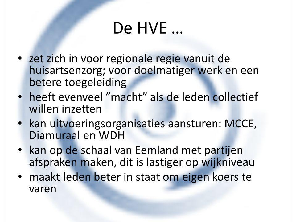 """De HVE … zet zich in voor regionale regie vanuit de huisartsenzorg; voor doelmatiger werk en een betere toegeleiding heeft evenveel """"macht"""" als de led"""