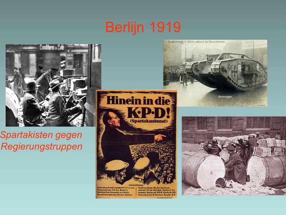 Berlijn 1919 Spartakisten gegen Regierungstruppen