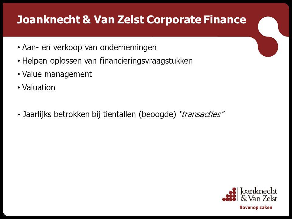 Contact Joanknecht & Van Zelst Corporate Finance C.P.H.