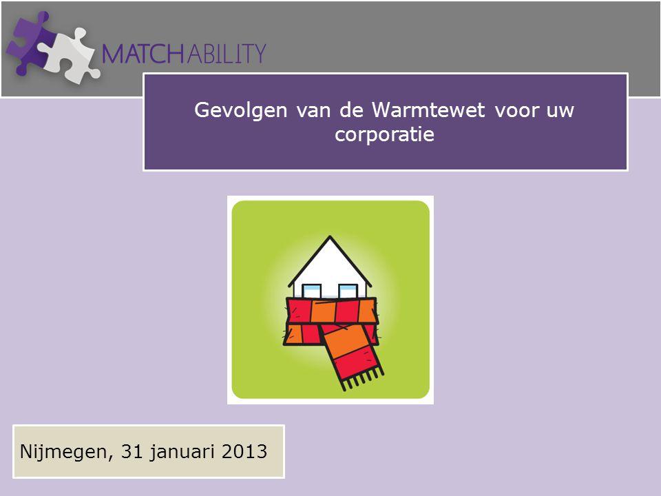 Gevolgen van de Warmtewet voor uw corporatie Nijmegen, 31 januari 2013