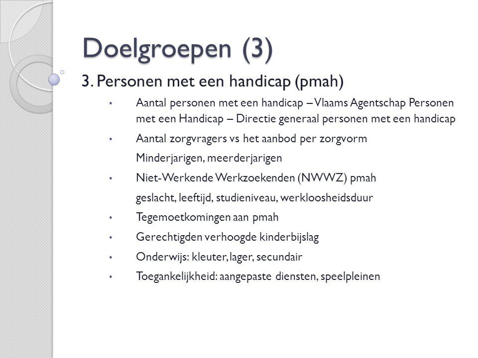 Doelgroepen (3) 3.