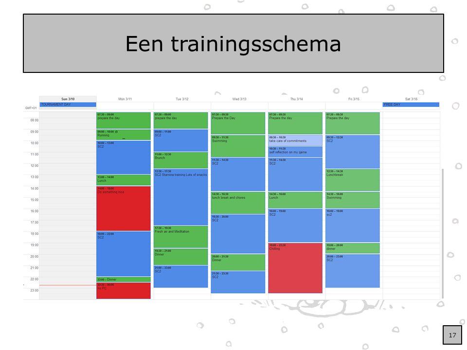 Een trainingsschema 17