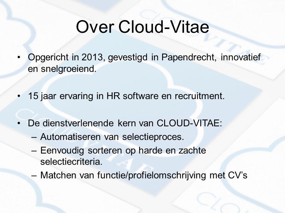 Over Cloud-Vitae Opgericht in 2013, gevestigd in Papendrecht, innovatief en snelgroeiend.