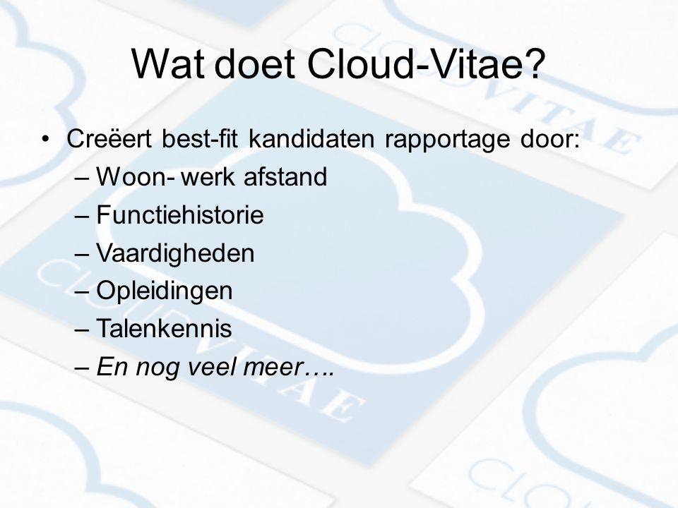 Wat doet Cloud-Vitae.