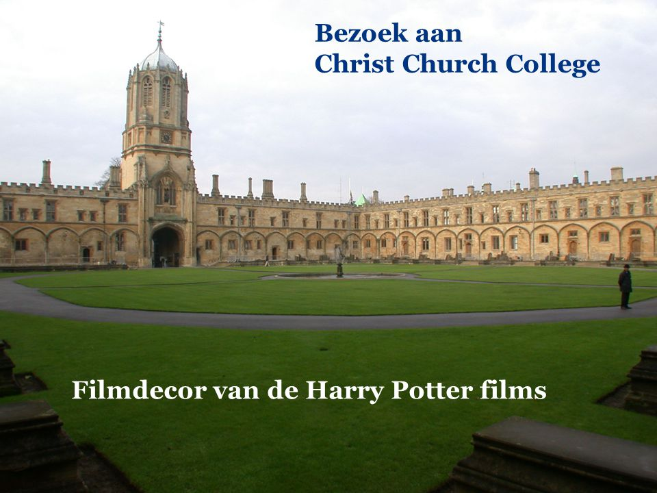 Filmdecor van de Harry Potter films Bezoek aan Christ Church College