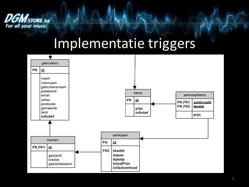 Implementatie triggers 5