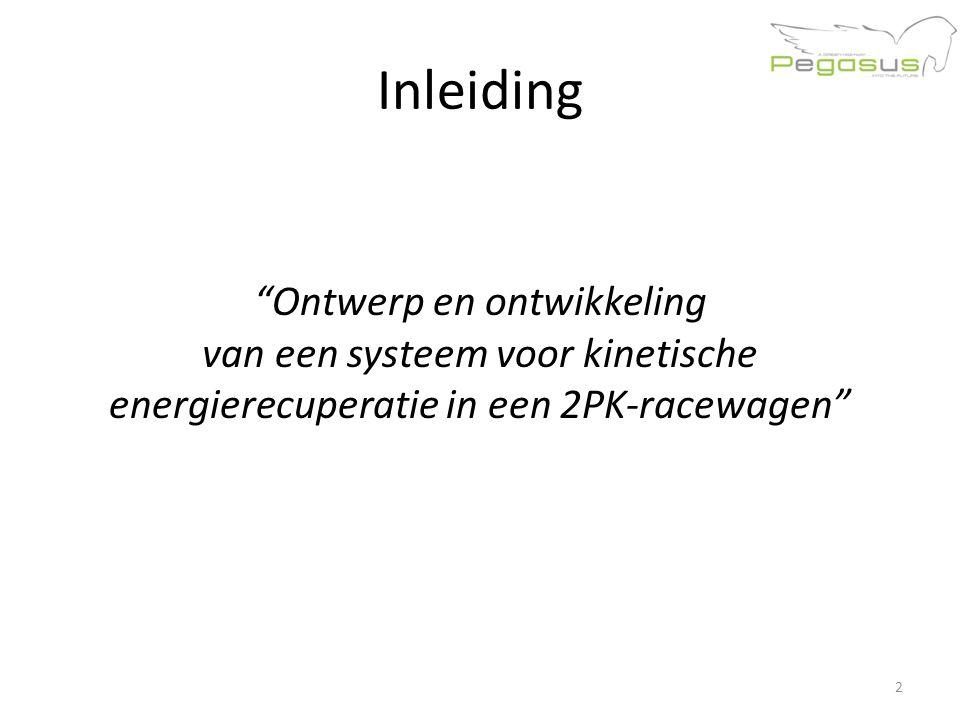 Inleiding Ontwerp en ontwikkeling van een systeem voor kinetische energierecuperatie in een 2PK-racewagen 2