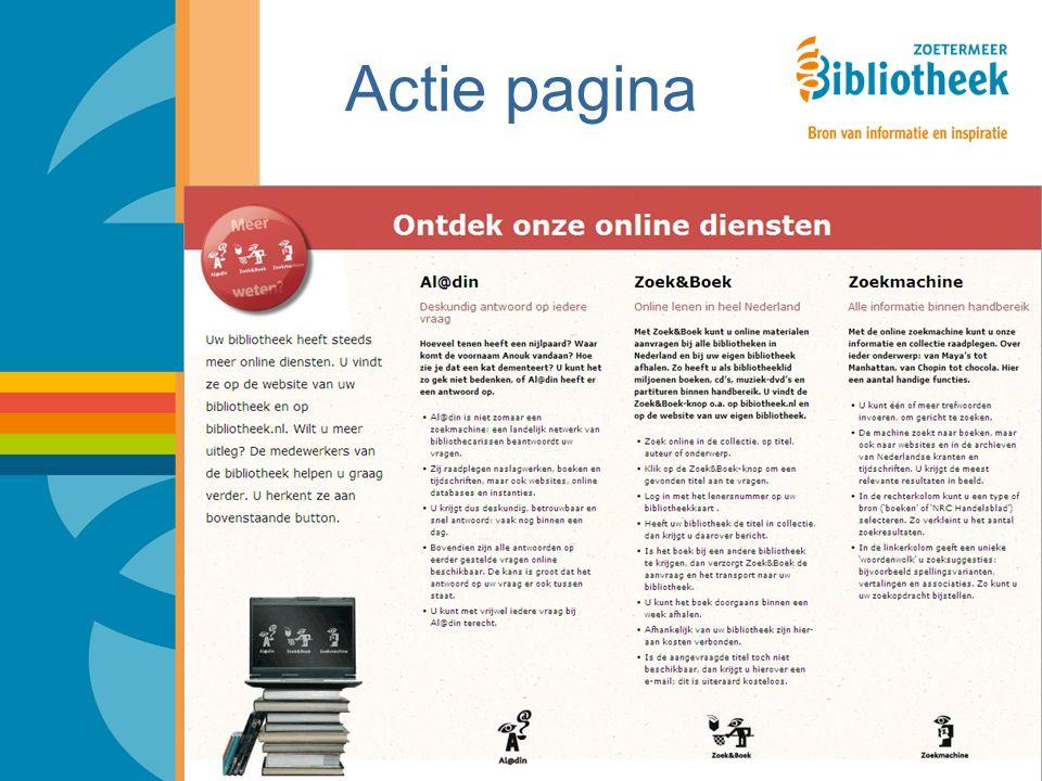 Actie pagina