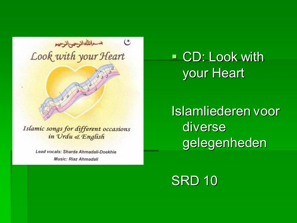 CD: Look with your Heart Islamliederen voor diverse gelegenheden SRD 10