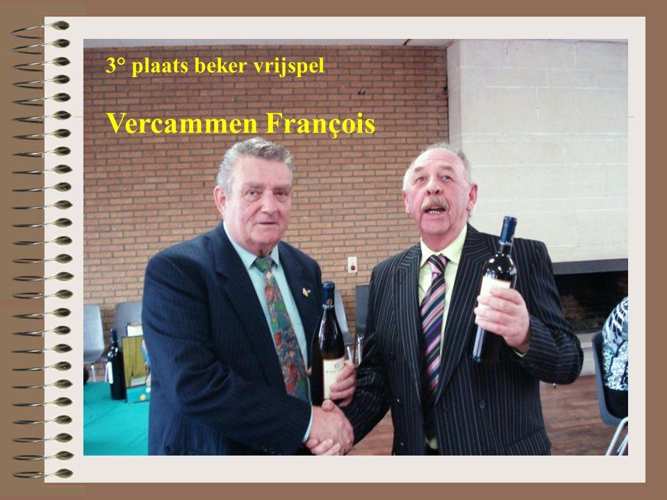 3° plaats beker vrijspel Vercammen François