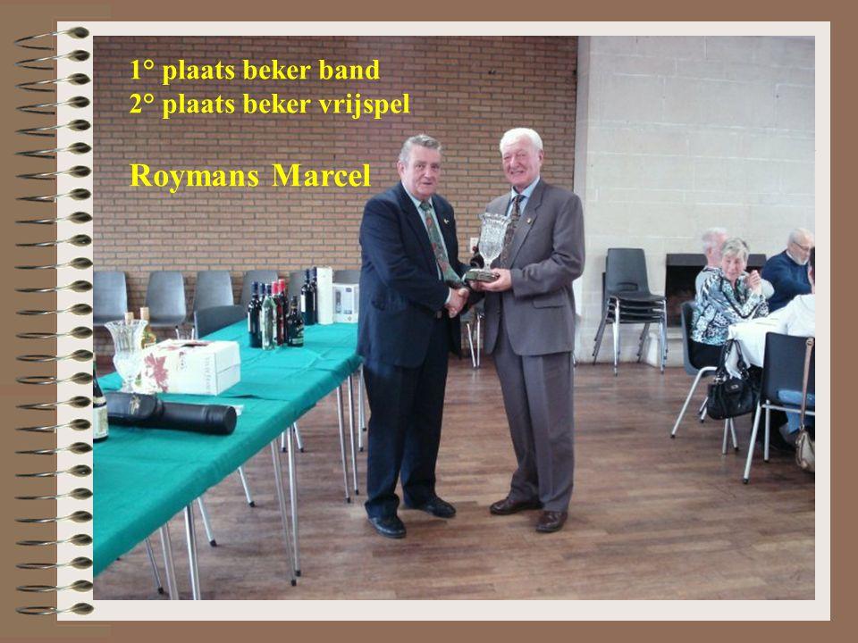 1° plaats beker band 2° plaats beker vrijspel Roymans Marcel