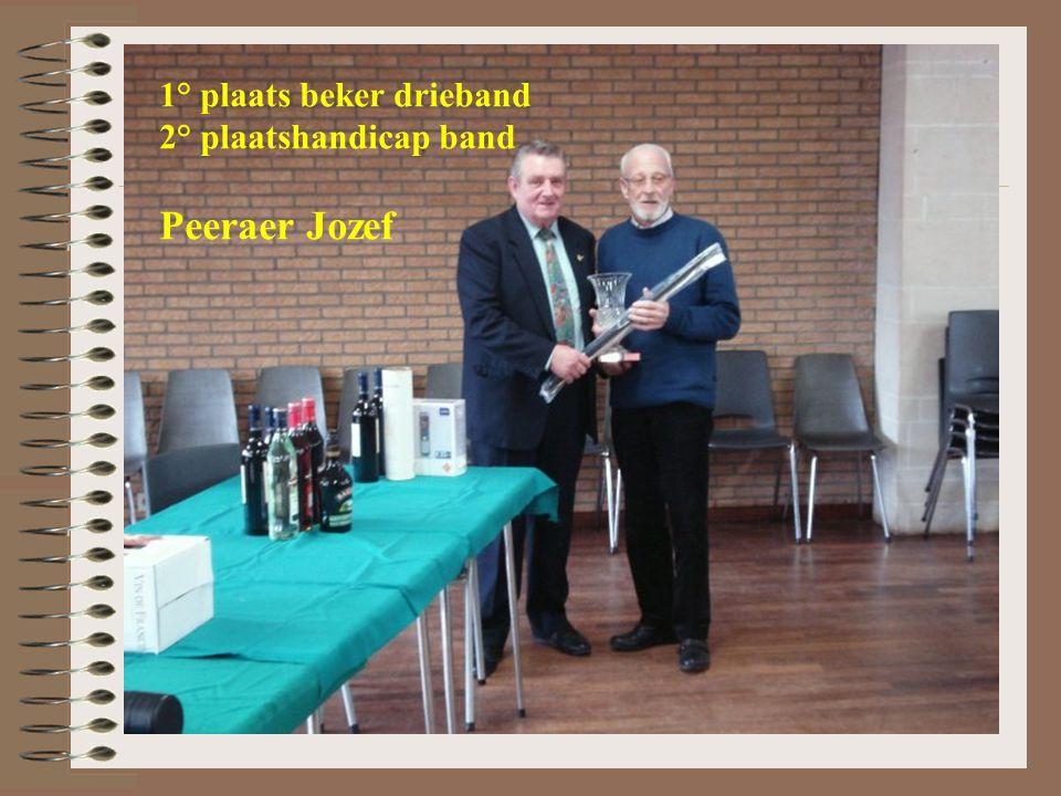 1° plaats beker drieband 2° plaatshandicap band Peeraer Jozef