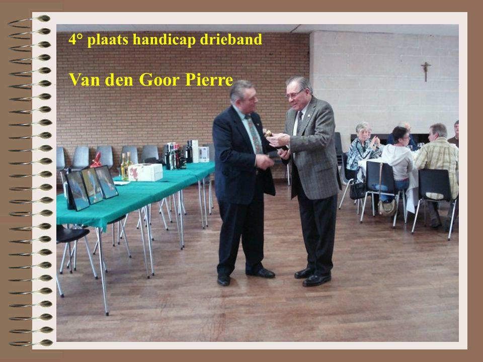 4° plaats handicap drieband Van den Goor Pierre
