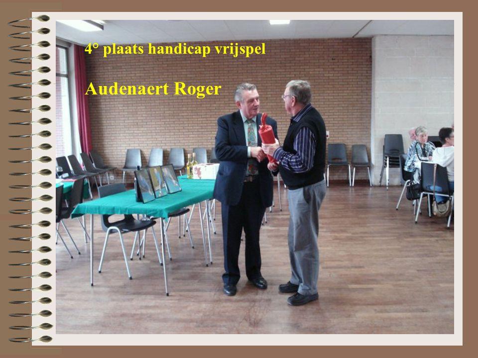 4° plaats handicap vrijspel Audenaert Roger