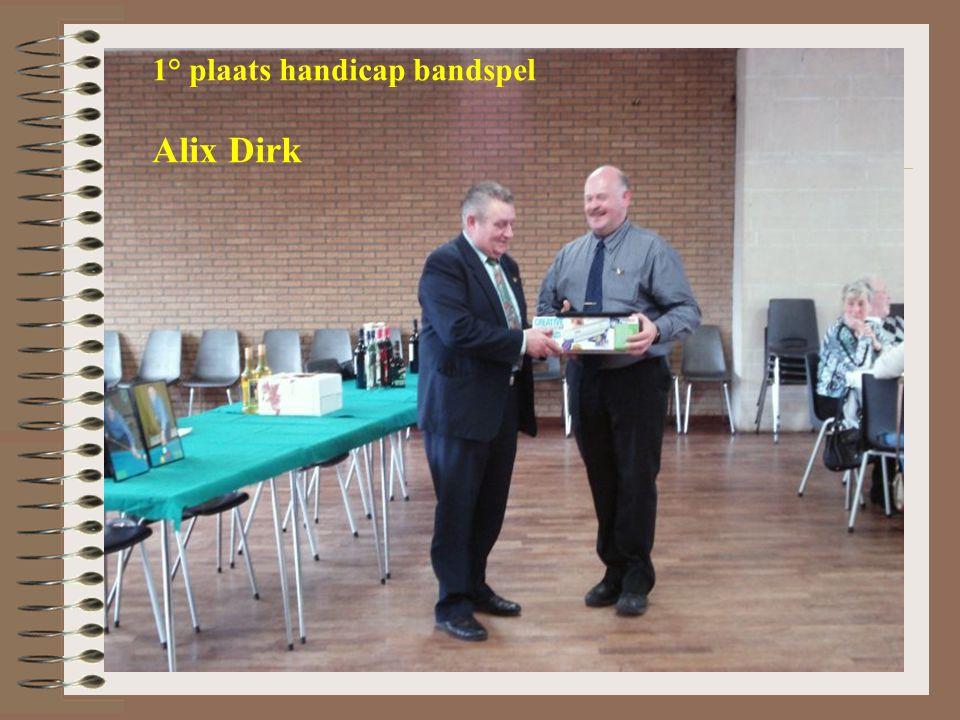 1° plaats handicap bandspel Alix Dirk