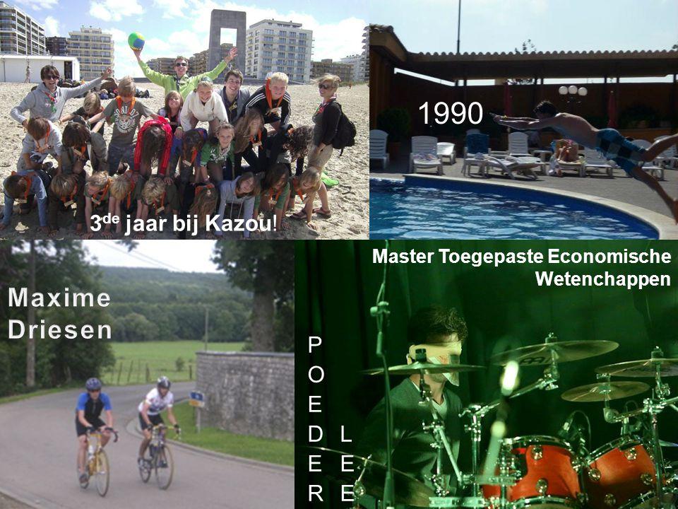 1990 Master Toegepaste Economische Wetenchappen 3 de jaar bij Kazou!