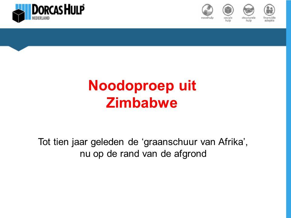 Noodoproep uit Zimbabwe Tot tien jaar geleden de 'graanschuur van Afrika', nu op de rand van de afgrond