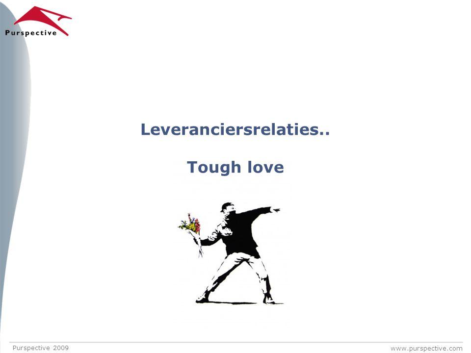 www.purspective.com Leveranciersrelaties.. Tough love Purspective 2009