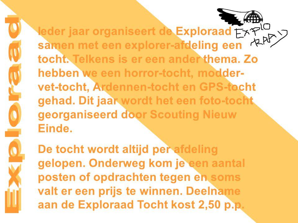 Ieder jaar organiseert de Exploraad samen met een explorer-afdeling een tocht.