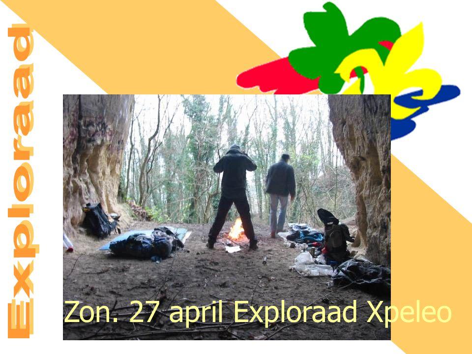 Zon. 27 april Exploraad Xpeleo