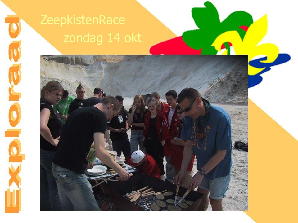 AGENDA Di 11 sep - Vergadering bij Nieuw Einde Zo 14 okt - Exploraad Zeepkisten Race Vr 19 okt - Expeditie Joti Vr 9 nov - Tocht i.s.m.