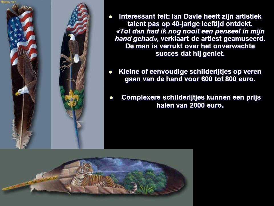 Interessant feit: Ian Davie heeft zijn artistiek talent pas op 40-jarige leeftijd ontdekt.