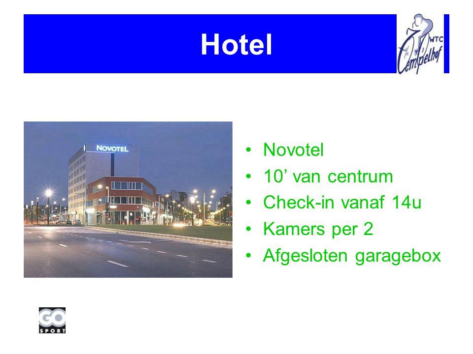Hotel Novotel 10' van centrum Check-in vanaf 14u Kamers per 2 Afgesloten garagebox