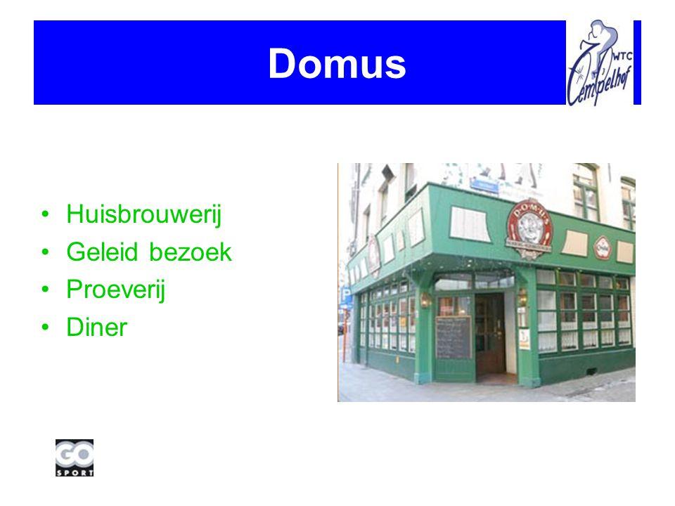 Domus Huisbrouwerij Geleid bezoek Proeverij Diner