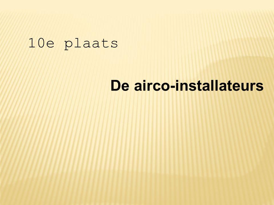 De airco-installateurs 10e plaats