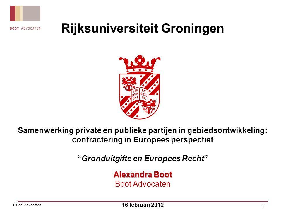 22 © Boot Advocaten LET OP: HvJEG Residex: nietigheid integrale overeenkomst is ultímum remedium Rb Alkmaar ←vgl.→ Rb Groningen