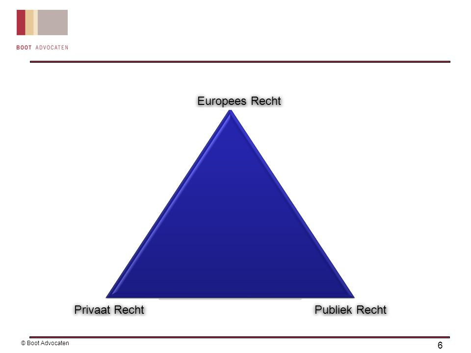 Europese beginselen: gelijke behandeling: geen bevoor- of benadeling van partijen transparantie: duidelijke eisen en criteria voorafgaand aan de aanbesteding discriminatieverbod evenredigheid Aanbestedingsplicht 7 © Boot Advocaten