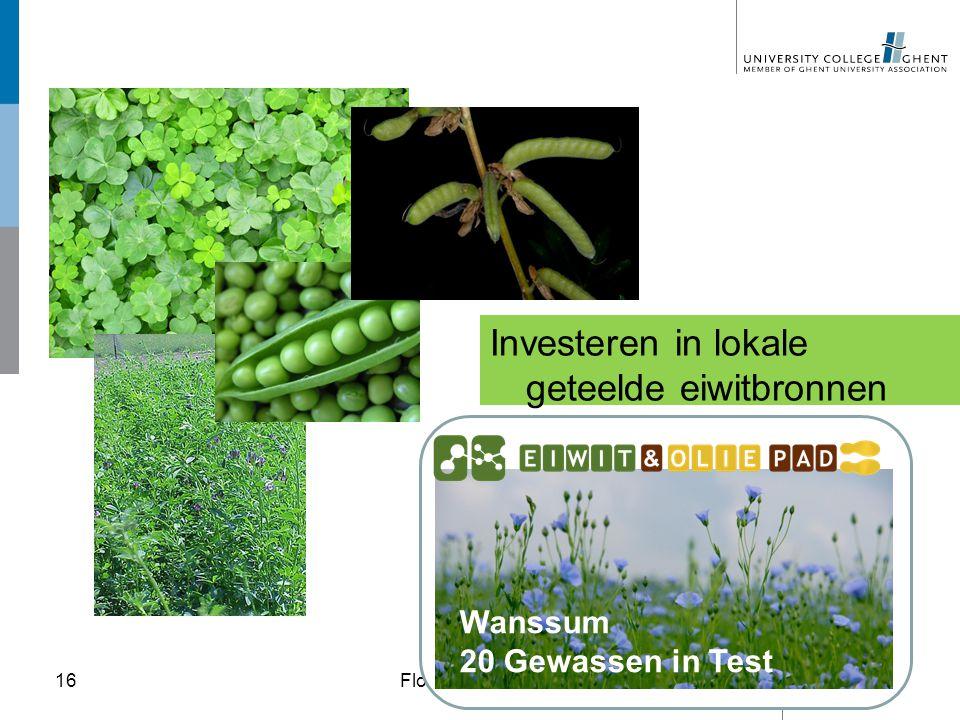 """Investeren in lokale geteelde eiwitbronnen Floriade 2012 Venlo – Themadag """"Voeding""""16 Wanssum 20 Gewassen in Test"""