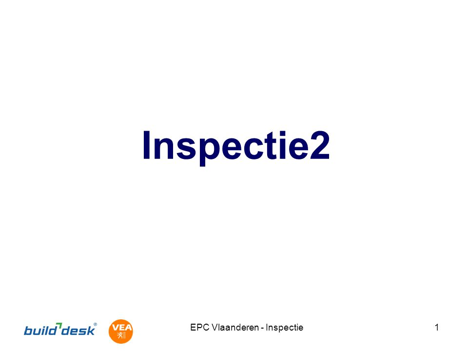 EPC Vlaanderen - Inspectie1 Inspectie2