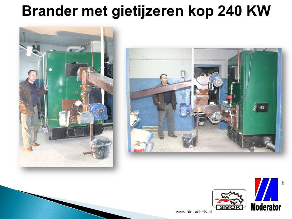 www.biokachels.nl Brander met gietijzeren kop 240 KW