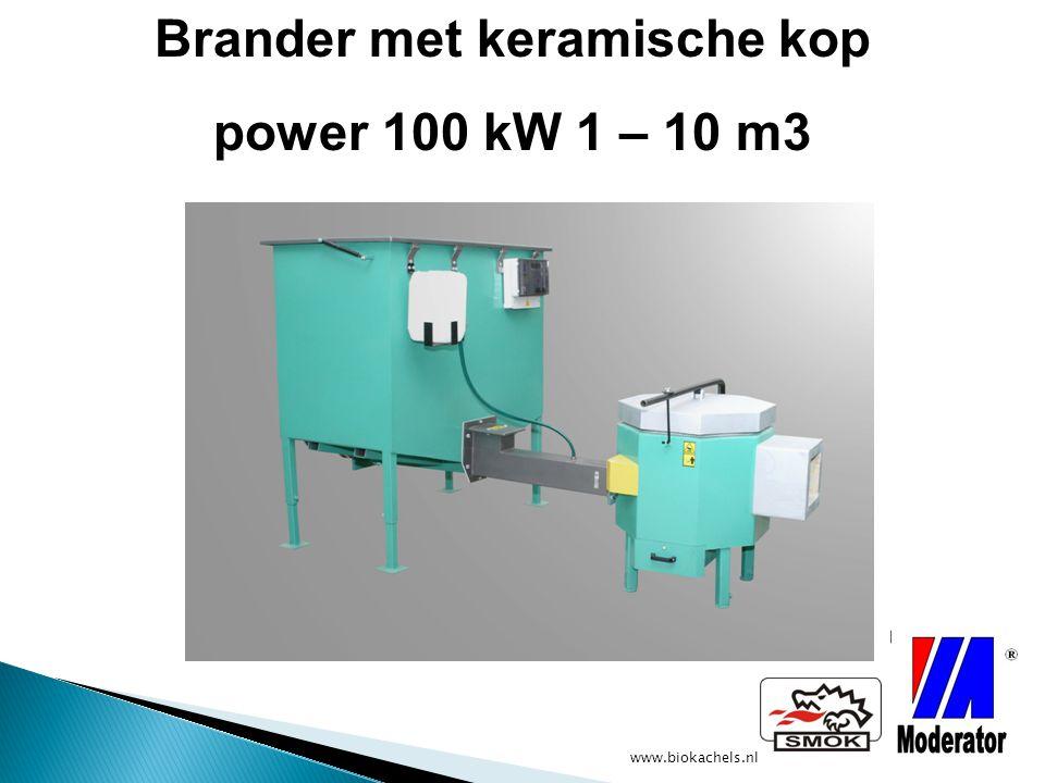 www.biokachels.nl Brander met keramische kop power 100 kW 1 – 10 m3