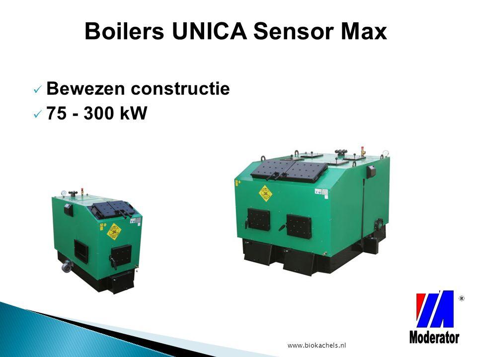 www.biokachels.nl Bewezen constructie 75 - 300 kW Boilers UNICA Sensor Max