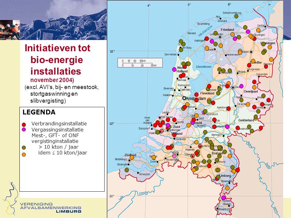 Stimuleringsmaatregelen Subsidie Milieukwaliteit Elektriciteitsproductie (MEP) 2006: Olie/vetten –< 10 MW 9,7 cent /kWh –> 10 < 50 MW6,0 cent/kWh Biomassa inst.