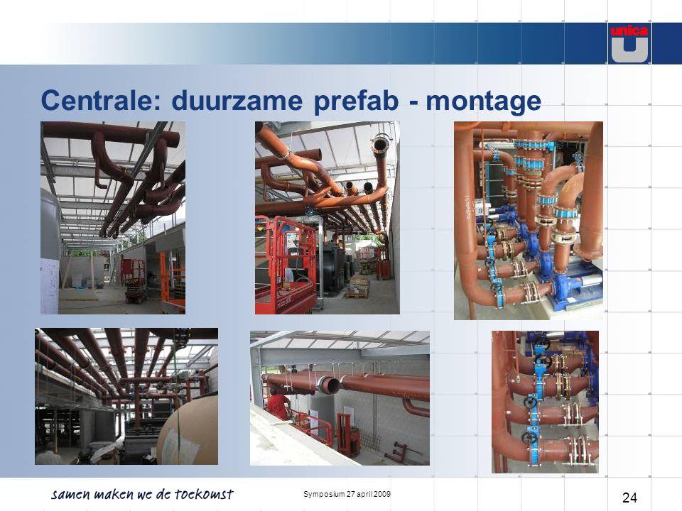 Symposium 27 april 2009 24 Centrale: duurzame prefab - montage