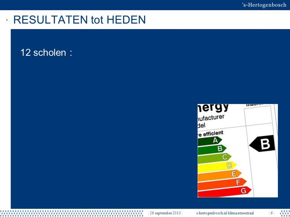EERSTE RESULTATEN   26 september 2013  s-hertogenbosch.nl/klimaatneutraal  7   12 scholen naar energielabel A en B én frisse school LabelLabel na maatregelen BS De OpstapFA BS De Opstap, Hengmeng (Aventurijn)FB OBS GandalfGA OBS MerlijnDB De Rietlanden, J.