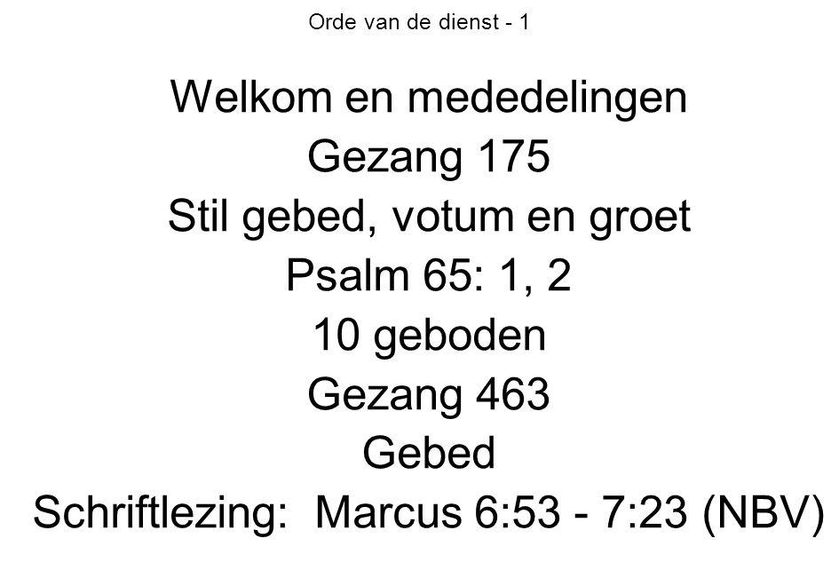 Orde van de dienst - 2 Psalm 19: 4, 5, 6 Preek Psalm 26: 1, 3 Voorbeden en dankzegging Collecte Gezang 437 Zegen Amen door gemeente (drievoudig)