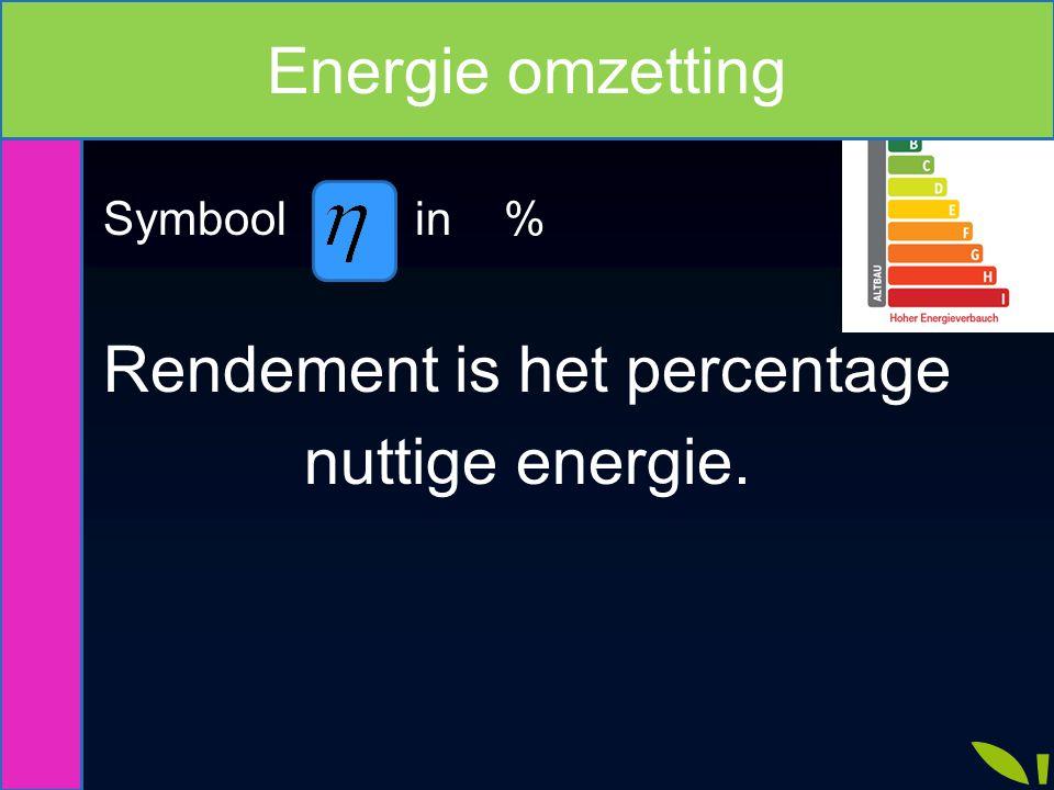 Vermogen Energie Vermogen Energie P toe P nuttig P ongewenst E toe E nuttig E ongewenst Energie omzetting