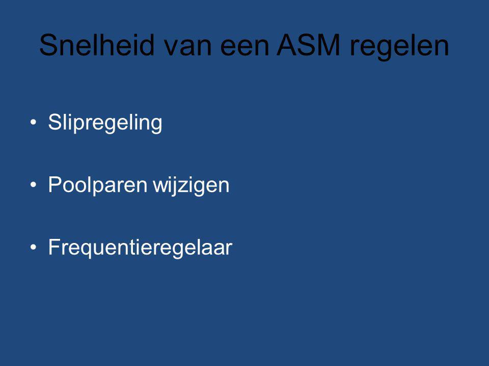 Snelheid van een ASM regelen Slipregeling Poolparen wijzigen Frequentieregelaar
