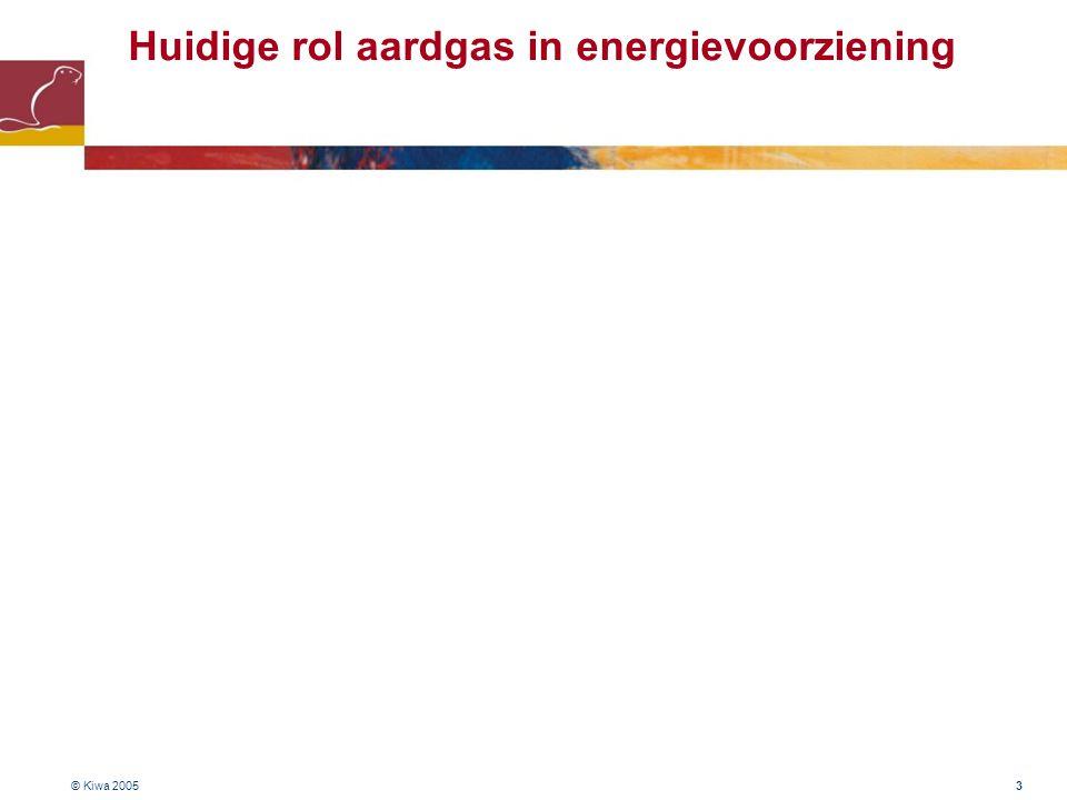 © Kiwa 2005 54 Status biogasinjectie in aardgasnet # Huidige situatie : - goede ervaringen met kleinschalige injectie in aardgasnetten - technologie beschikbaar voor opwerken biogas tot aardgaskwaliteit # Toekomst : - groot potentieel om biogas te injecteren - maar, nog veel uitdagingen (toelaatbare gassamenstelling, toelaatbare concentraties sporen- componenten, inpassing in aardgasinfrastructuur, regelgeving, betrouwbaarheid, e.d.) - daarom verder onderzoek nodig