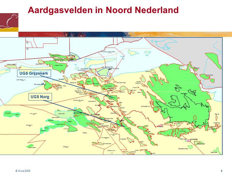 © Kiwa 2005 7 Groningen gasveld ( 3-D weergave) 35 km 25 km 300 m