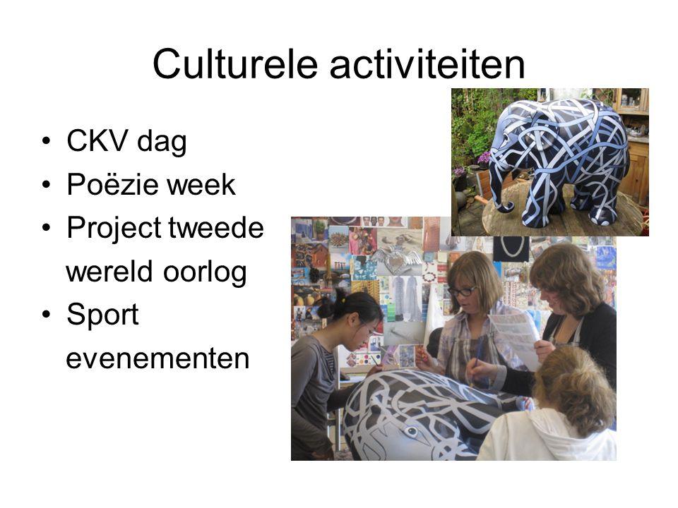 Culturele activiteiten CKV dag Poëzie week Project tweede wereld oorlog Sport evenementen