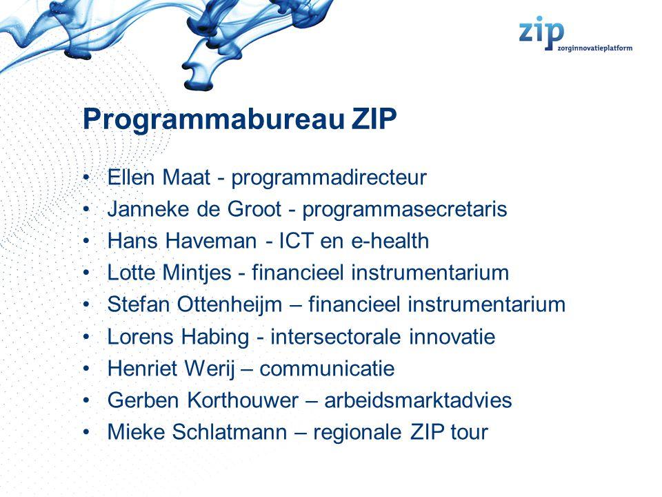 Missie van het ZIP Het ZIP wil innovaties versnellen en aanjagen die bijdragen aan een duurzaam gezondheidssysteem en daarmee het welzijn en de welvaart van de bevolking verhogen.