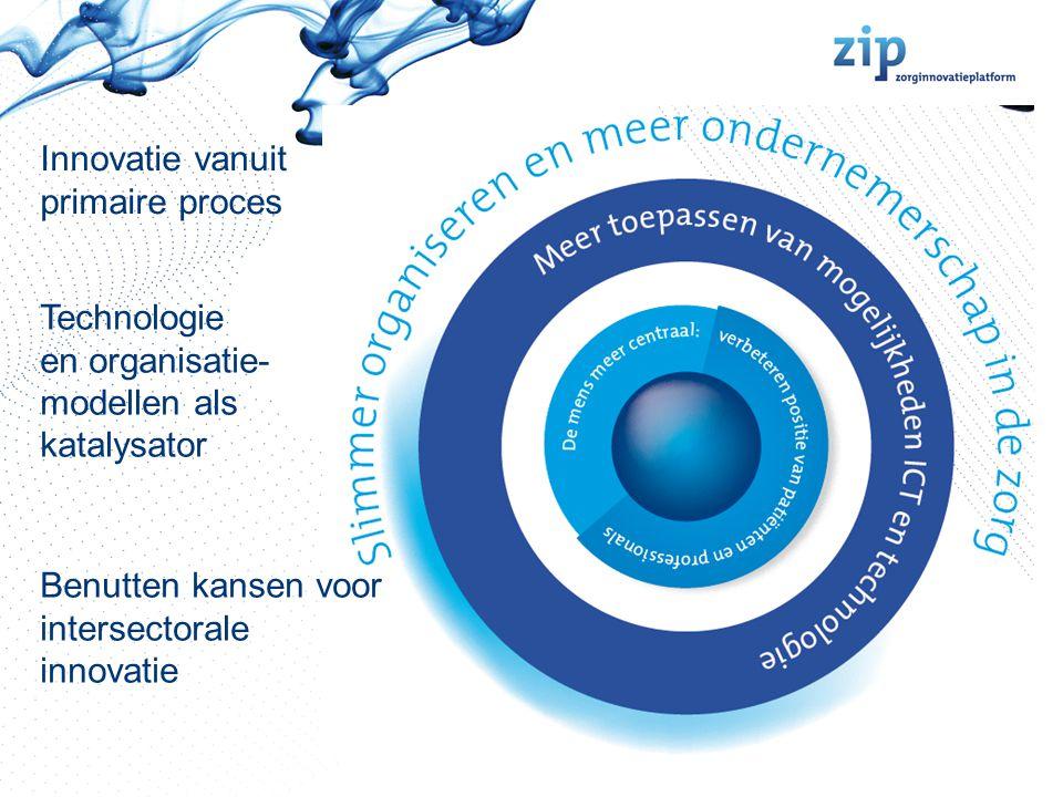 Aanpak ZIP 2009-2012 Het ZIP wil partijen aanjagen, verbinden en mobiliseren om bij te dragen aan de maatschappelijke uitdagingen in de zorg