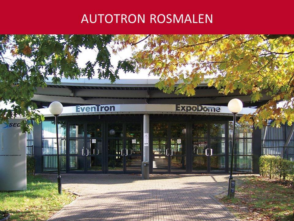 50 tot 10.000 gasten Ruim 4.000 parkeerplaatsen Slechts één uur rijden vanaf Amsterdam, Rotterdam en Antwerpen AUTOTRON ROSMALEN