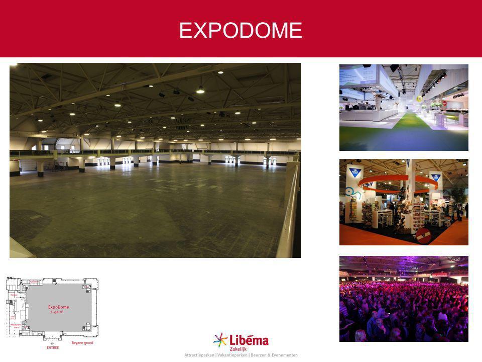 Specificaties ExpoDome Max.aantal personen zittend:6.300 Max.
